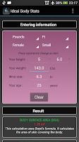 Screenshot of Ideal Weight BMI Adult & Child