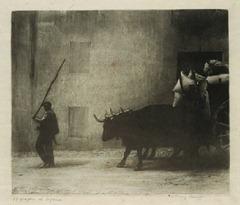 James Craig Annan - Ox Wagon at Segovia