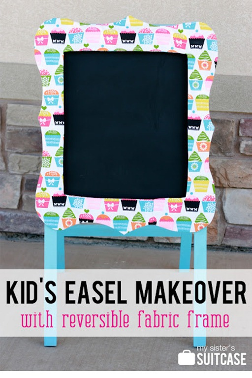 kid's easel makeover