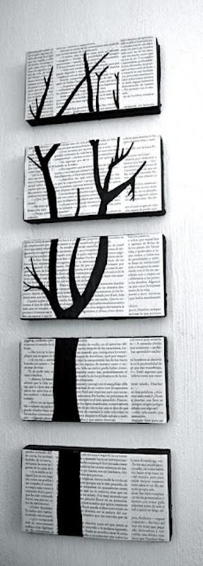 Quadro com imagem dividida sobre palavras