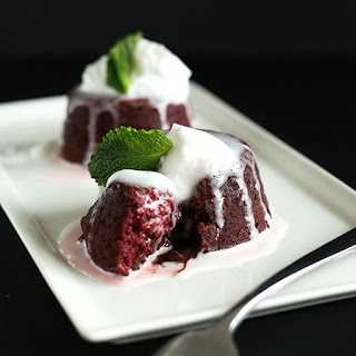 Vegan Chocolate Lava Cakes
