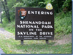 1063 Virginia - Shenandoah National Park on the Skyline Drive sign