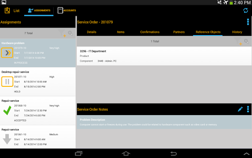 【免費商業App】SAP CRM Service Manager Tablet-APP點子