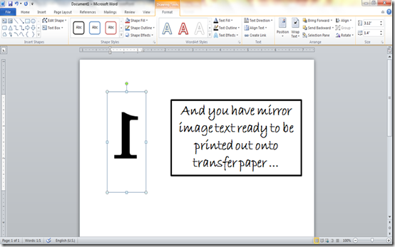 How To Make Mirror Image Text In Microsoft Word