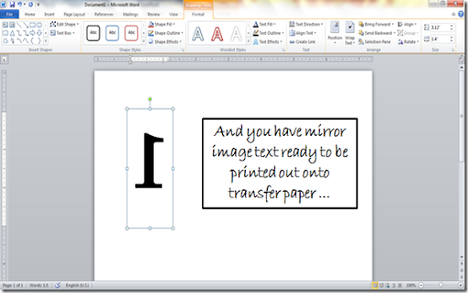 how do i print a mirror image in word on a mac