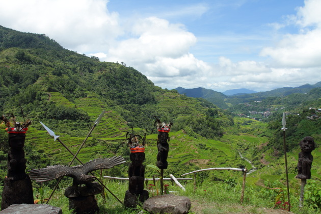 Ifugao Sculptures and Banaue Rice Terraces
