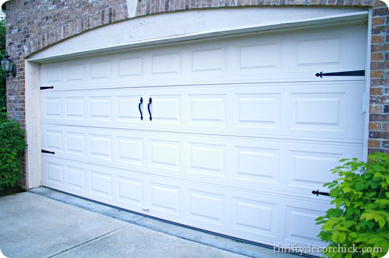 Diy Craftsmancarriage Garage Door From Thrifty Decor Chick