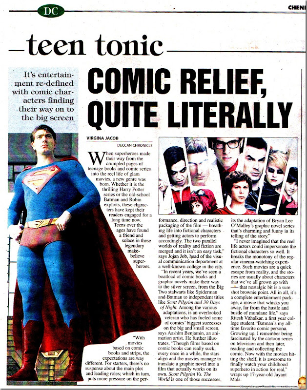 Deccan Chronicle Chennai Chronicle Dated 11072011 Page No 25 Comic Relief