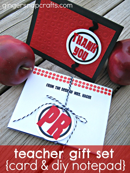 teacher gift card and notepad