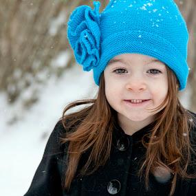 Winter weather by Joe Eddy - Babies & Children Child Portraits ( cold, blue, snow, weather, coat, hat )