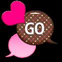GO SMS - Dazzling Hearts 9 icon