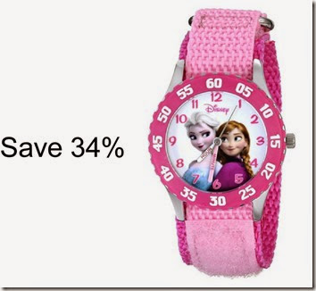 Save 34% of Disney frozen watch for girls. This would make a wonderful Christmas present for a kindergarten, 1st grade, or 2nd grade girl!