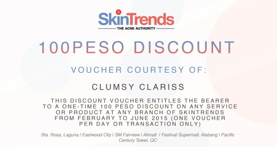 SkinTrends Discount Voucher clumsy clariss