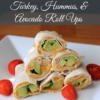 Turkey, Avocado, and Hummus Roll Ups {No Bread}