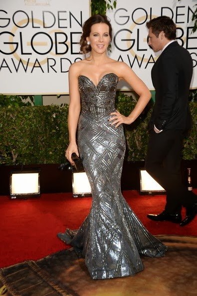 Kate Beckinsale attends the 71st Annual Golden Globe Awards