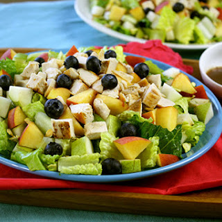 Chick-a-licious Fruity Green Salad.