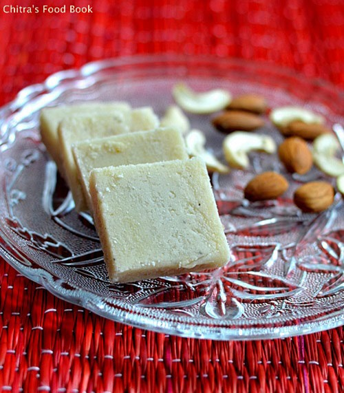 Almond cashew burfi recipe