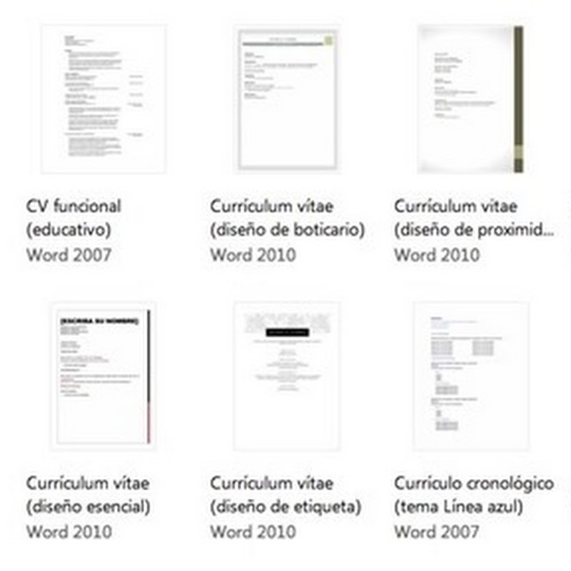 Bajar Plantillas De Currículum Vitae Para Word Gratis