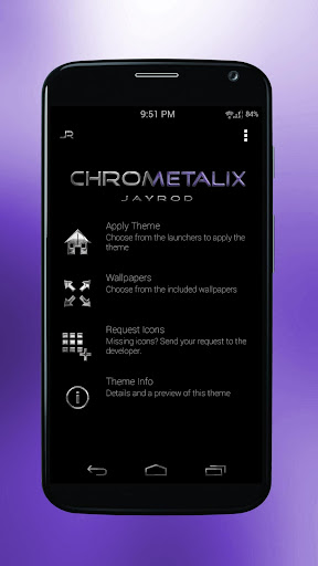 Purple Chrometalix-Icon Pack