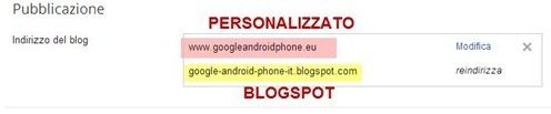 redirect-dominio personalizzato-blogger