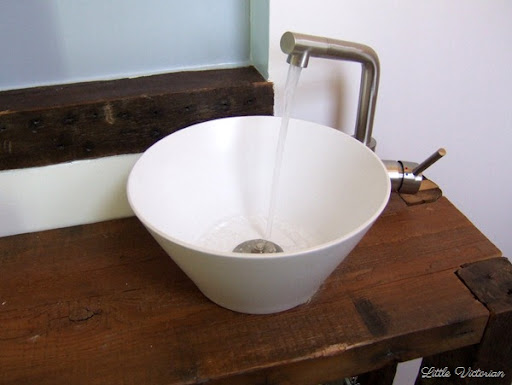 Beau The Bowl Was From Target, On Clearance For $12. The Faucet Is From IKEA. We  Had A Hard Time Finding Any We Liked That Were Actually Made For Vessel  Sinks, ...