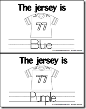 Football Colors and Counting • A Teaching Mommy