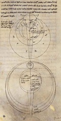 A manuscript of Roger Bacon's work on optics, which influenced Peckham's own works