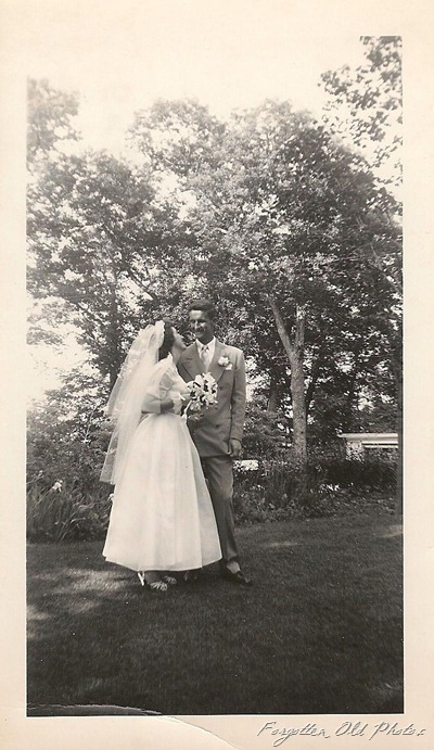 Bride and Groom June17 1950 DL Antiques