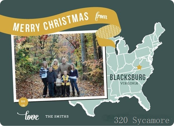 2012 christmas card from minted