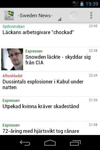 Sweden News - screenshot