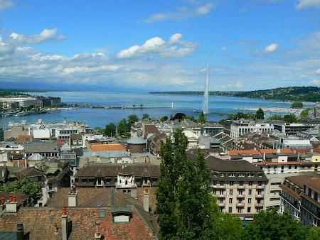 Geneva vazuta de sus