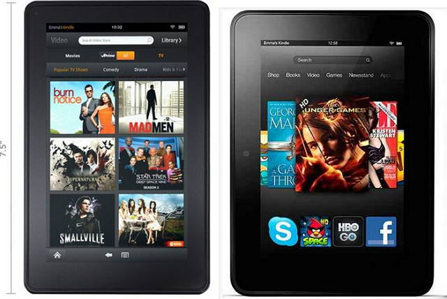 Kindle fire 2012 vs Kindle fire HD 2013