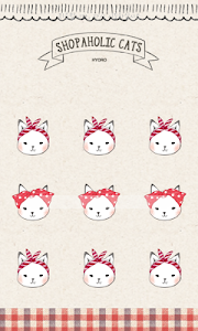 Shopper Holic cats(red check) screenshot 2