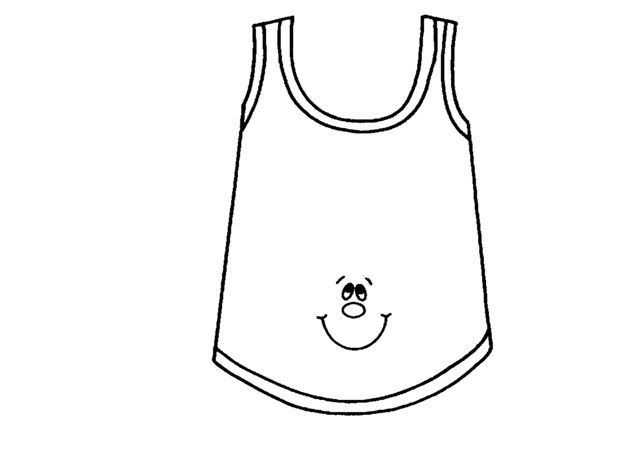 T SHIRT COLORING PAGES