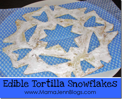 Edible Tortilla Snowflakes