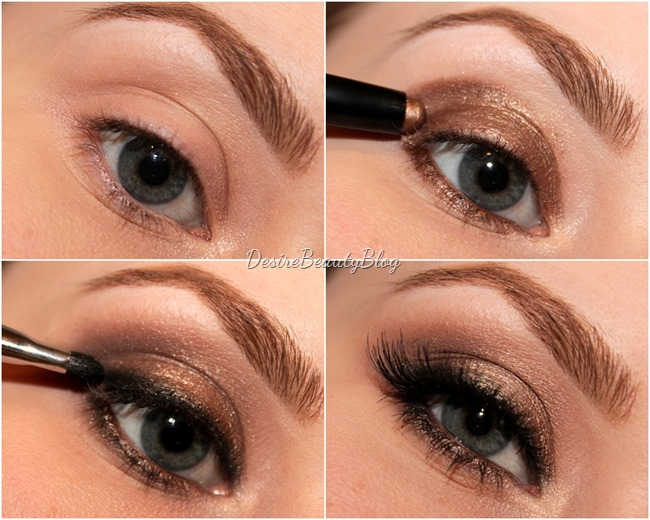 desire beauty blog tutorial bronze smokey eyes in 5 minuten. Black Bedroom Furniture Sets. Home Design Ideas