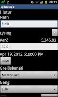 Screenshot of Eydslu App