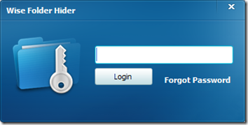 Wise Folder Hider password di accesso al programma