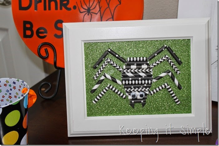 Halloween decoration Paper straw spider (8)