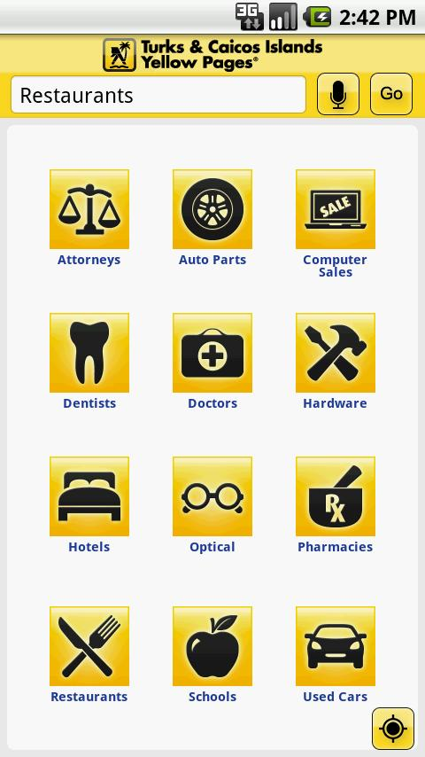 Turks & Caicos Yellow Pages - screenshot