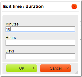 Duration Dialog