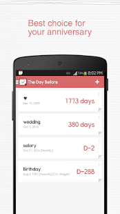TheDayBefore (D-Day widget) - screenshot thumbnail
