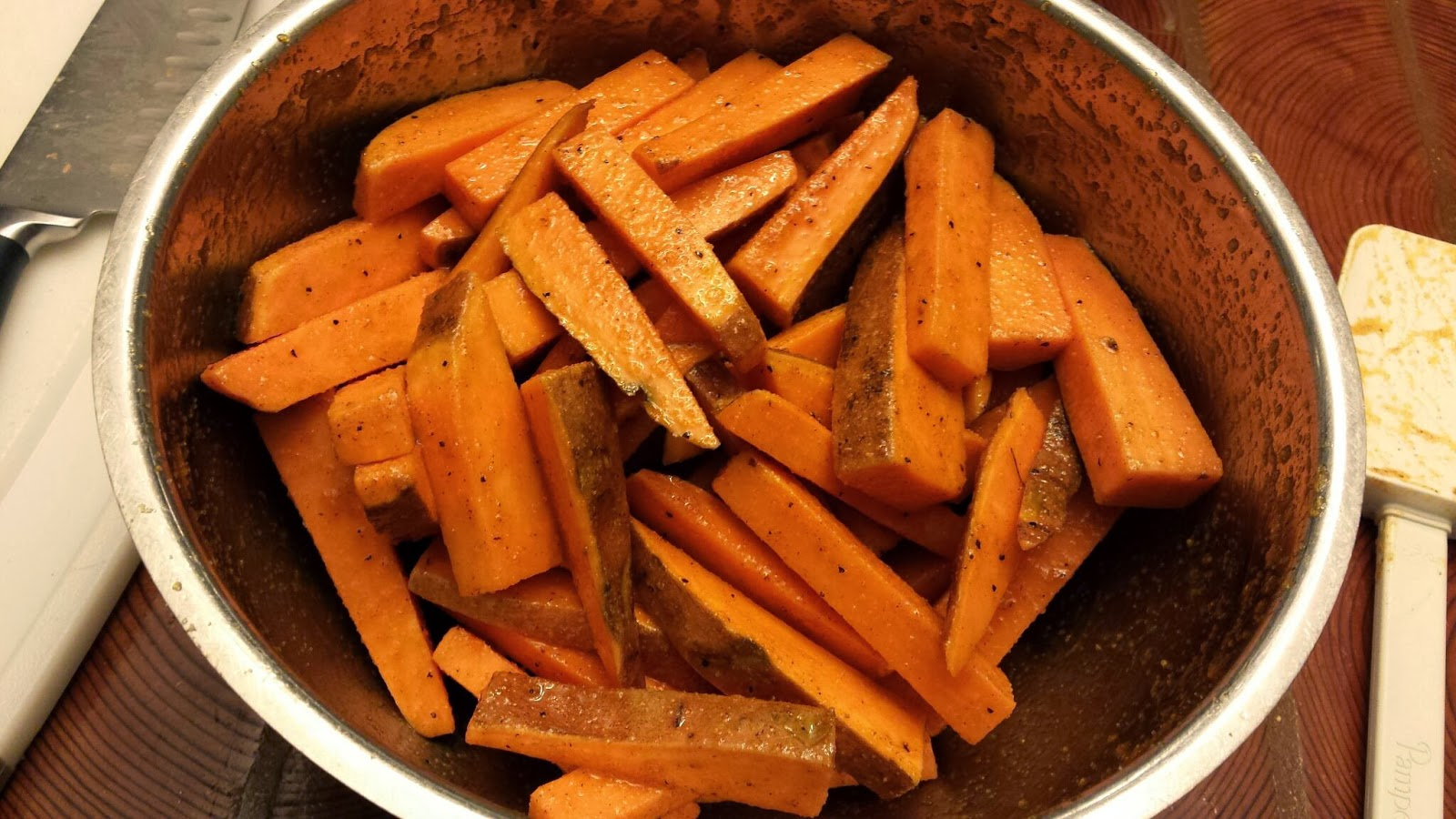 An Onion Exposed Spicy Or Not Oven Baked Sweet Potato Fries