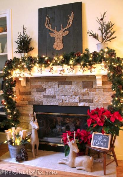 Christmas Reindeer Mantel Jpg