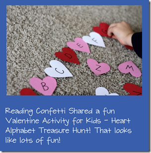 Valentine Alphaet Treasure Hunt Kids Activity