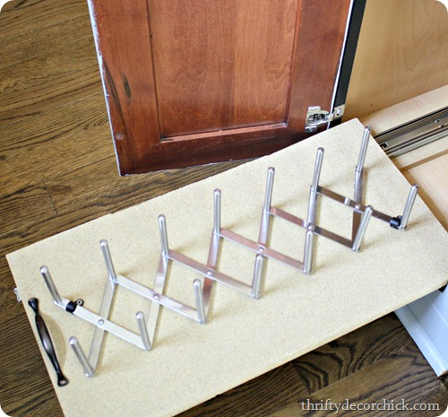DIY roll out drawer organization