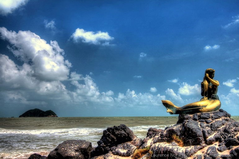 Mermaid statue songkhla Thailand