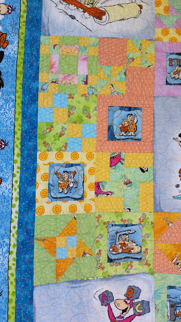 Side of Flintstone's Quilt