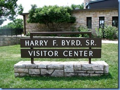 1144 Virginia - Shenandoah National Park - Skyline Drive - Big Meadows - Harry F. Byrd Sr. Visitor Center sign