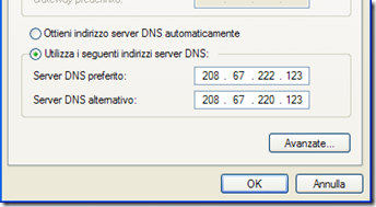Proprietà – Protocollo Internet digitare i server DNS FamilyShield